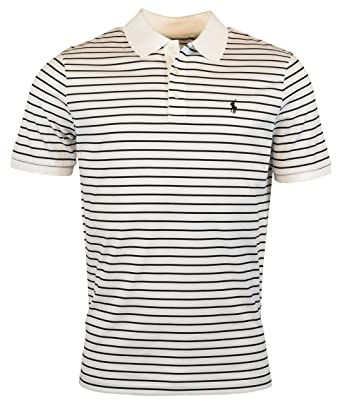 932d27eb8 Polo Ralph Lauren Men s Classic-Fit Striped Stretch Mesh Short-Sleeve Polo  Shirt at Amazon Men s Clothing store