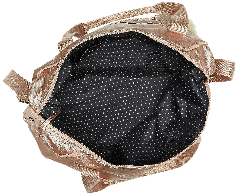 Kipling dam art handväska, 44 x 27 x 20 cm Guld (metallisk rouge)