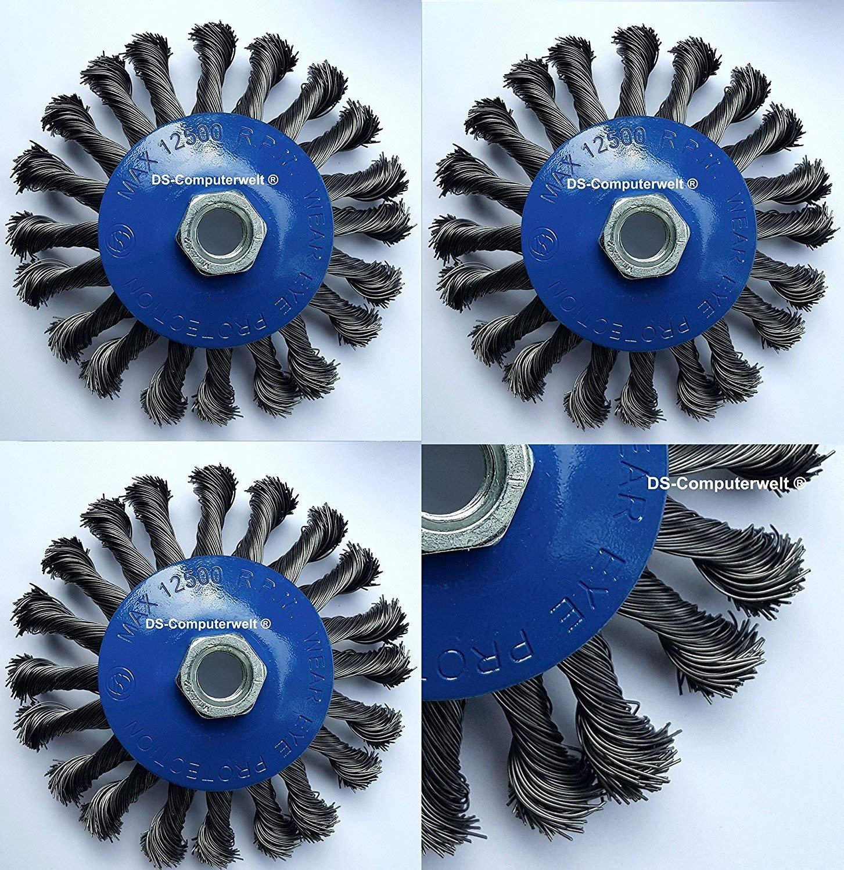 Osborn 9902566162 Wheel Brush Crimped of Steel Wire 0 V Silver