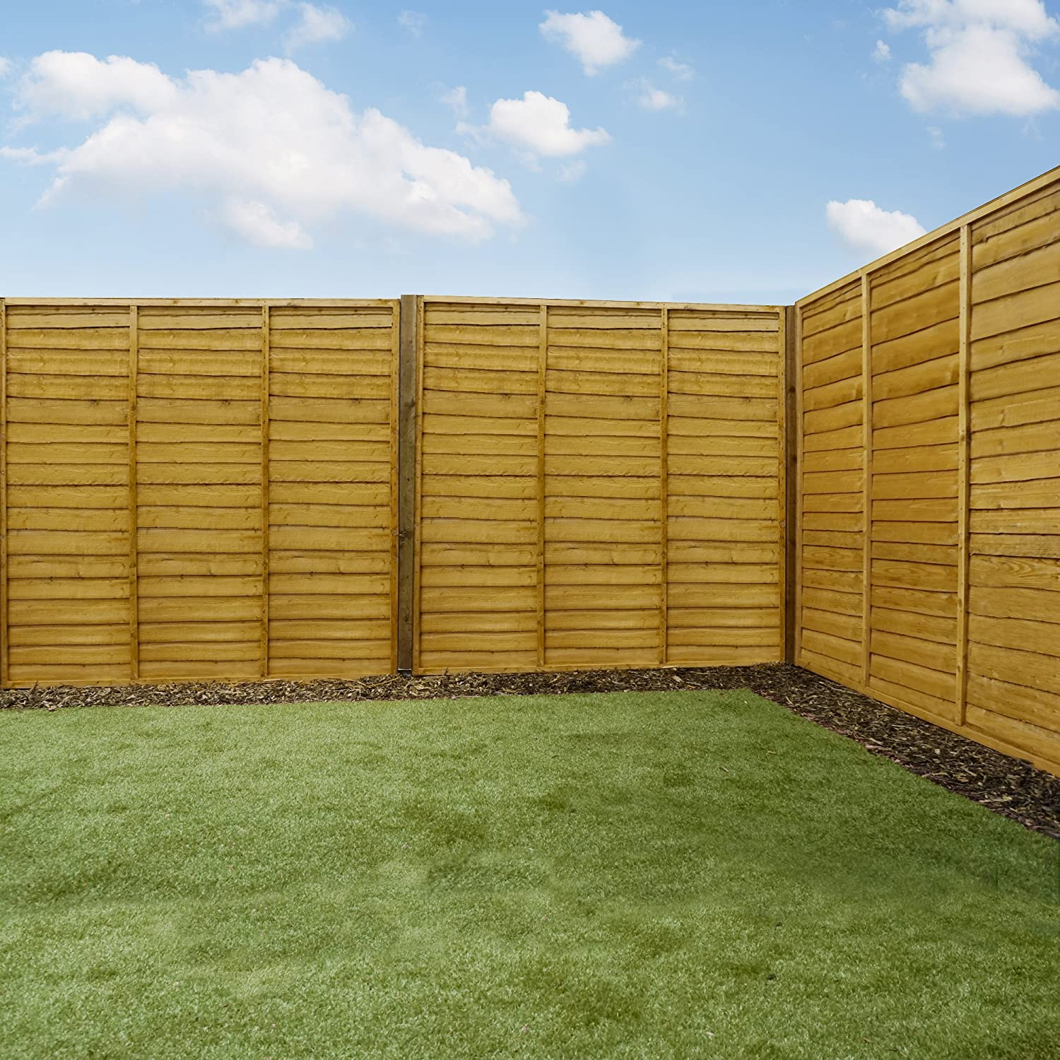 6ft horizontal lap wooden fence panels amazoncouk garden u0026 outdoors
