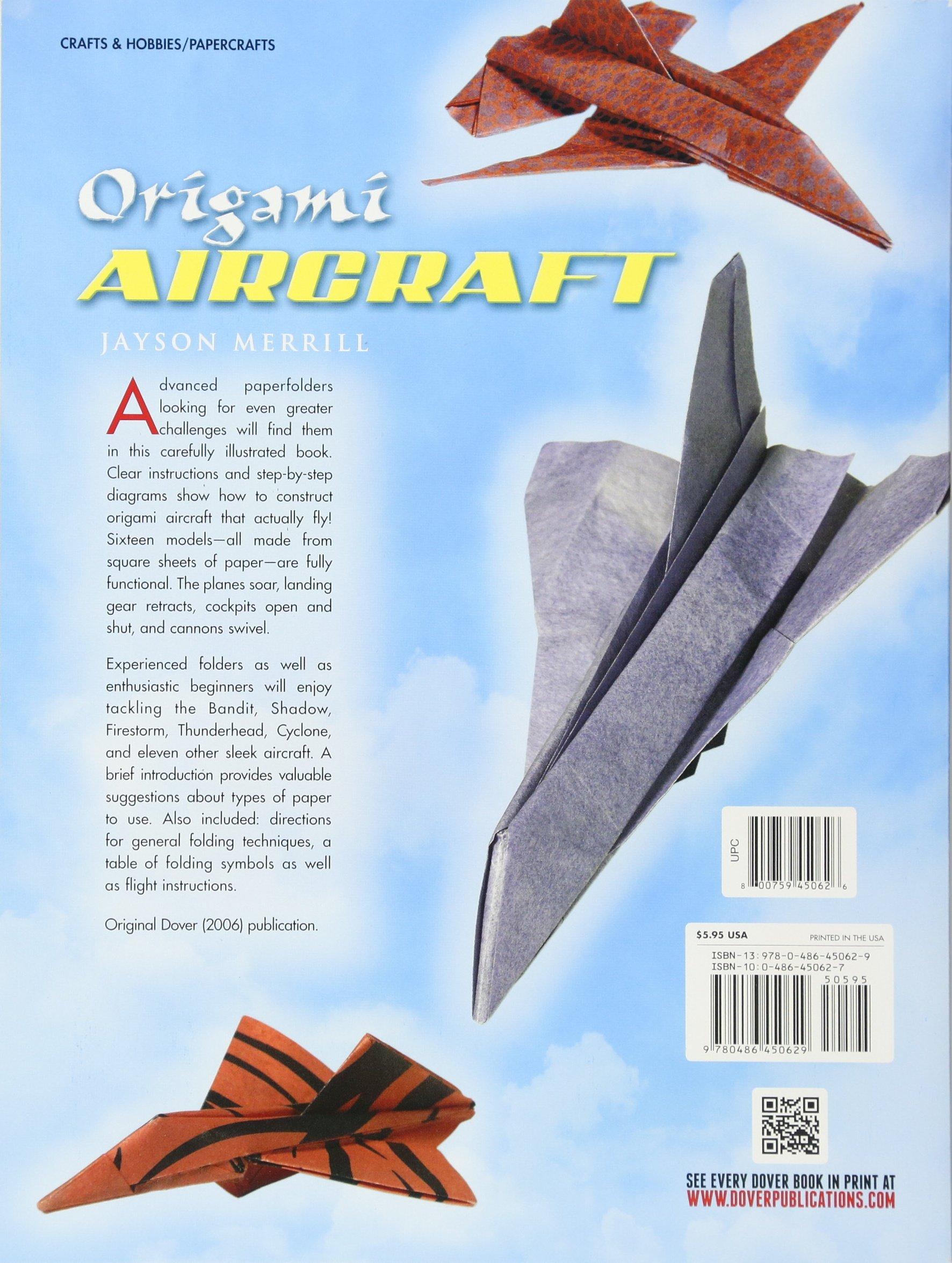 Origami Aircraft (Dover Origami Papercraft): Jayson Merrill