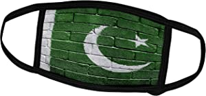 3dRose Carsten Reisinger Illustrations - National Flag of Pakistan Painted onto a Brick Wall Pakistani - Face Masks (fm_156961_1)