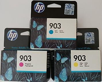 Hp 903 Cyan Magenta Gelb Original Druckerpatronen Für Hp Officejet 6950 Hp Officejet Pro 6960 6970 Bürobedarf Schreibwaren