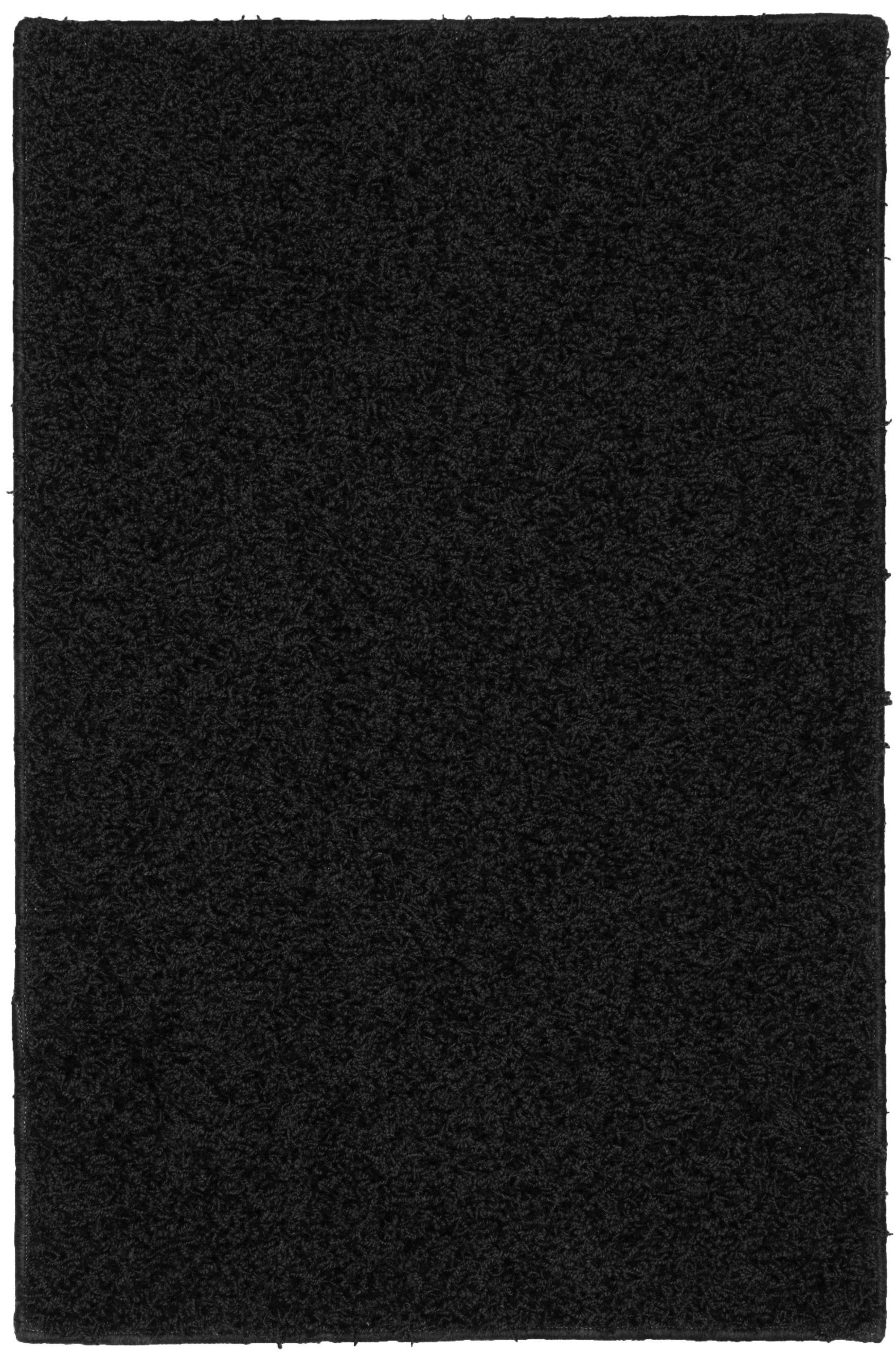 Garland Rug Southpointe Shag Area Rug, 3-Feet by 5-Feet, Black by Garland Rug (Image #1)