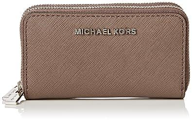 c8305a64bb8e Michael Kors Women's Jet Set Travel Double Zip Around Card Holder Wallet  Brown (Cinder)