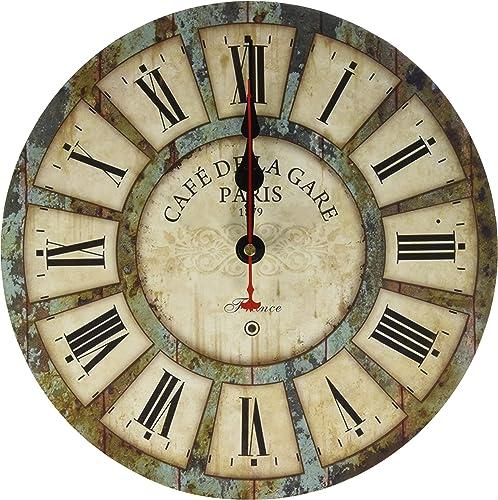 Eruner 12-inch Wooden Clock
