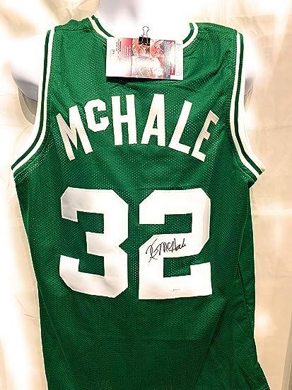 743de0fad Kevin McHale Boston Celtics Signed Autograph Custom Green Jersey JSA  Witnessed Certified