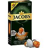 Jacobs Kapseln Espresso Classico - Intensität 7 - 50 Nespresso®* kompatible Kaffeekapseln aus Aluminium (5 x 10 Kapseln)
