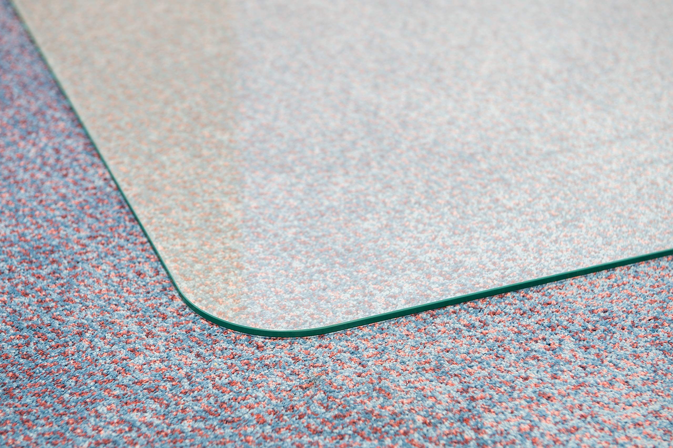 Cleartex Glaciermat, Reinforced Glass Executive Chair Mat for Hard Floors/Carpets, 36'' x 48'' (FC123648EG) by Floortex (Image #5)