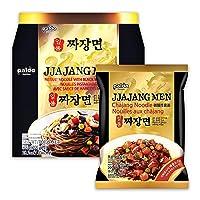 Paldo Fun & Yum Ilpoom Jjajangmen Noodles, Pack of 4, Traditional Brothless Chajang Ramen with Savory & Sweet Black Bean Sauce, Best Oriental Style Korean Ramyun, Soupless K-Food, 일품 짜장면 200g x 4