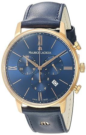 c328d68b Amazon.com: Maurice Lacroix Men's 'Eliros' Quartz Gold and Leather ...
