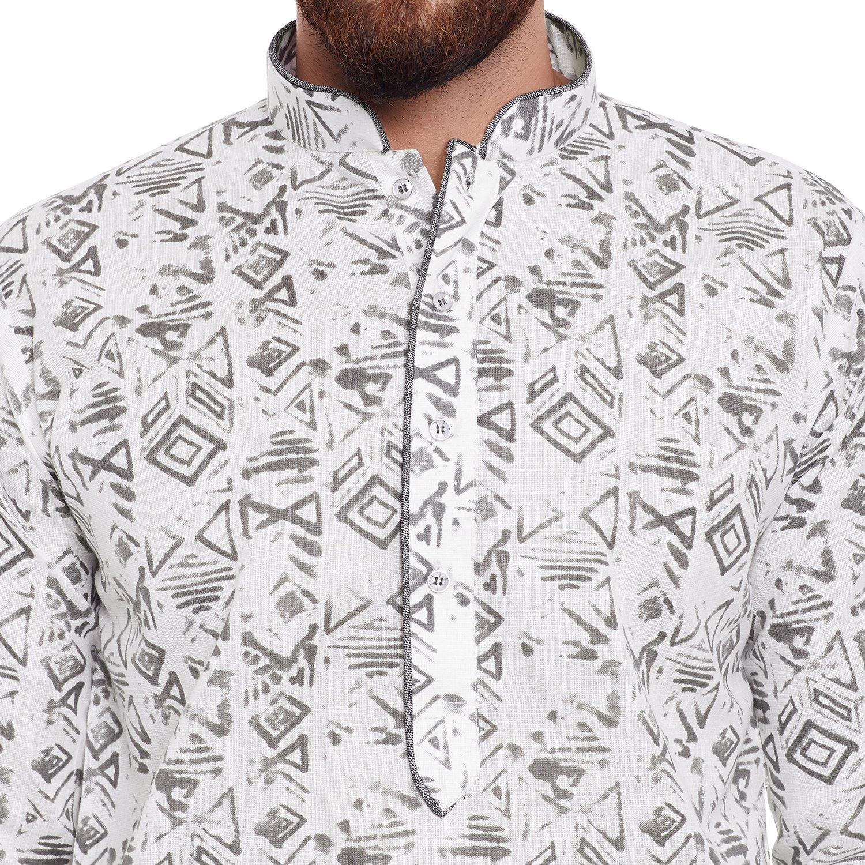 Indian-Traditional-Kurta-Pajama-Set-Shirt-Printed-Men-Kurta-Ethnic-Wear-XS-5XL thumbnail 21