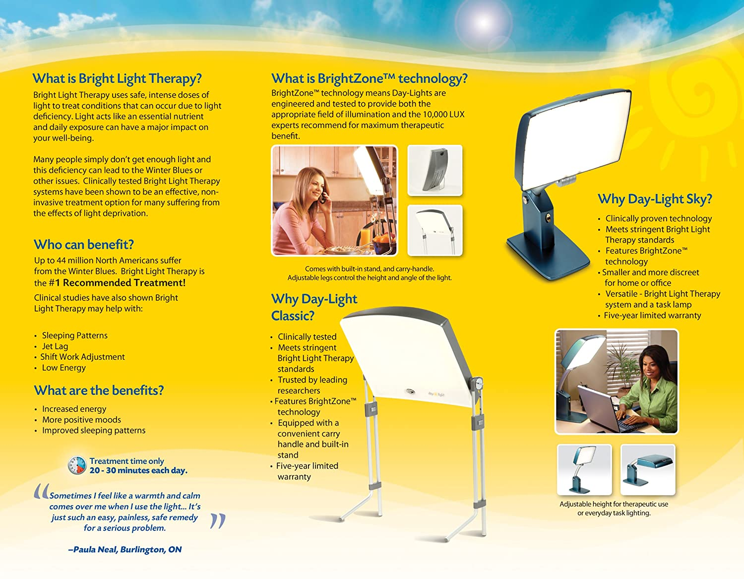 Amazon.com Day-Light Sky Bright Light Therapy L& Provides 10000 LUX of Glare-Free White Light for Seasonal Affective Disorder Therapy Health ...  sc 1 st  Amazon.com & Amazon.com: Day-Light Sky Bright Light Therapy Lamp Provides ... azcodes.com