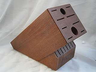 product image for CUTCO HOMEMAKER 18 Slot Wooden Knife Block Storage Holder Dark CHERRY WOOD