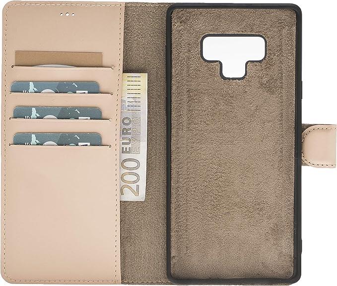 Solo Pelle Lederhülle Harvard Kompatibel Für Das Samsung Galaxy Note 9 Inklusive Abnehmbare Hülle Mit Integrierten Kartenfächern Nude Rosa Koffer Rucksäcke Taschen