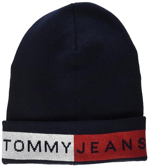 d846ecb67e5b Tommy Hilfiger Logo Flag Beanie Blue (Sky Captain 413), One Size ...
