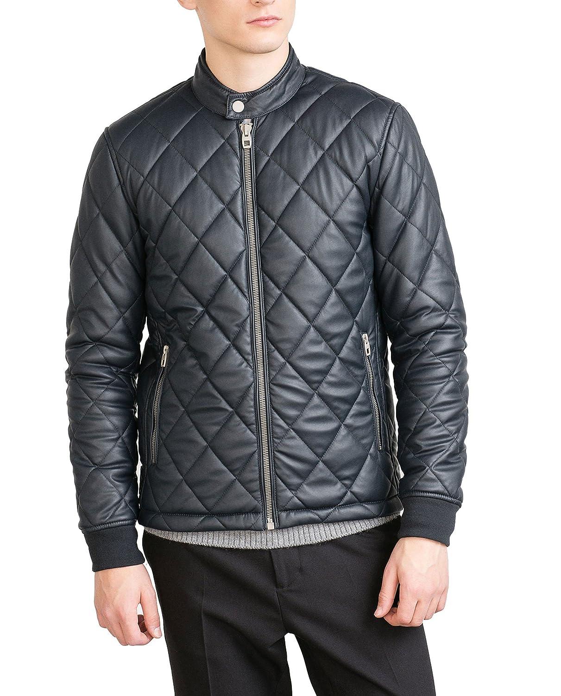 Amazon.com: Zara de los hombres piel sintética – chaqueta ...