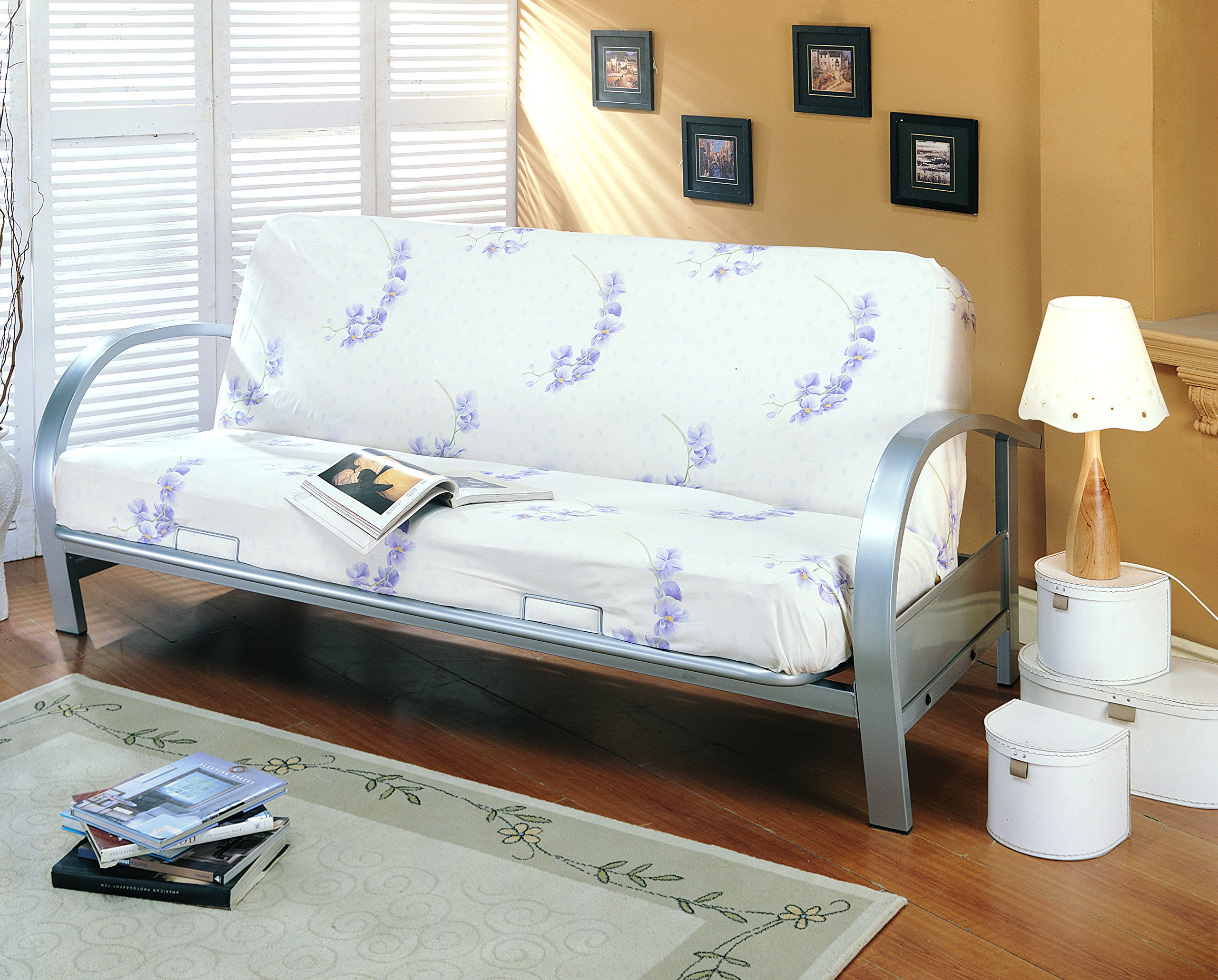 Metal Futon Frame Silver by Coaster Home Furnishings
