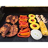 "Backyard Chef Grill Master Grill Mats Baking Mat FDA Approved Heavy Duty Non Stick Grill Mat 16x13"" Set of 2 - Great Gift Idea Best BBQ Accessories"