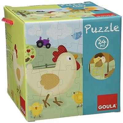 Goula 53425 - Puzzle En Bois - Poule - 24 Pièces