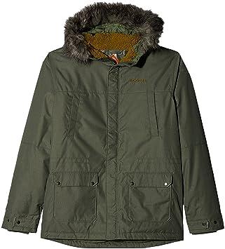Columbia Chaqueta impermeable para niños, Snowfield Jacket, Poliéster, Verde (Cypress Heather)