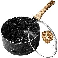MICHELANGELO 2 Quart Saucepan with Lid,Nonstick Sauce Pan with Lid, Small Pot with Lid, Stone Coating Sauce pan 2quart…