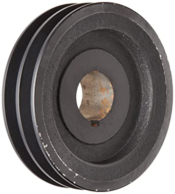 """3.25/"""" Cast Iron 3//4/"""" Shaft Pulley Sheave Single 1 Groove V Style A Belt 4L New"""