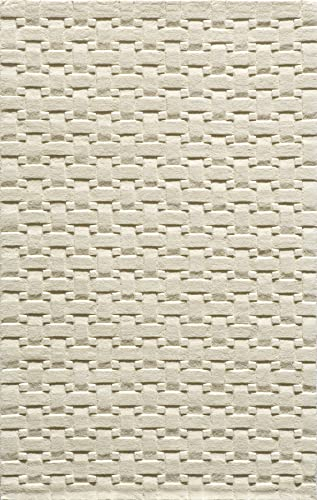 Momeni Rugs Metro Collection, 100 Wool Hand Loomed Contemporary Area Rug, 8 x 11 , Ivory