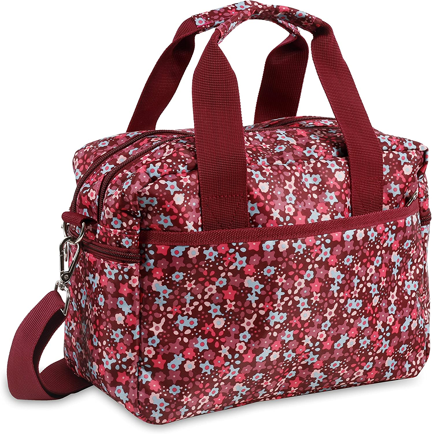 J World New York Aby Bag Travel Tote, Pink Floret, One Size
