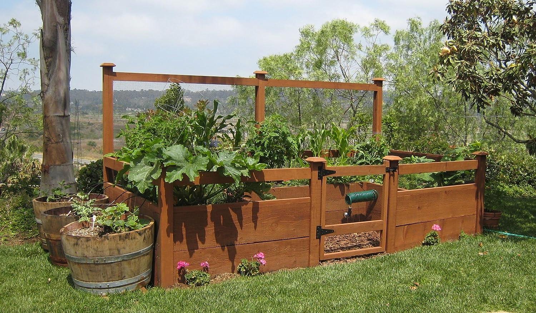 Amazon.com : Just Add Lumber Vegetable Garden Kit - 8\'x12\' Deluxe ...