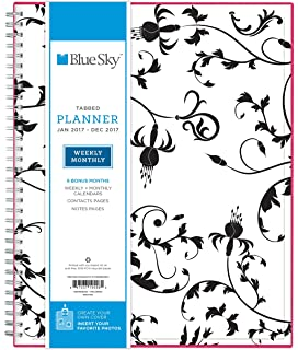 amazon com blue sky 2017 weekly monthly planner wire o
