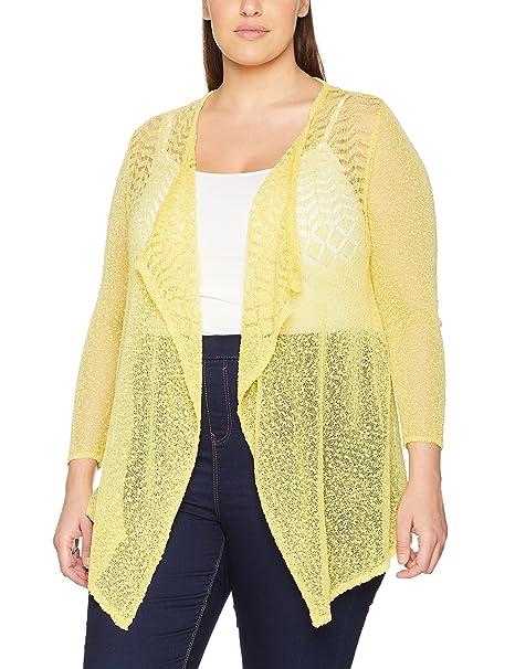 08e82535950b8a Evans 06C10XYLW-Cardigan Donna Giallo (Yellow 0194) 54(Dimensioni  Produttore: 22