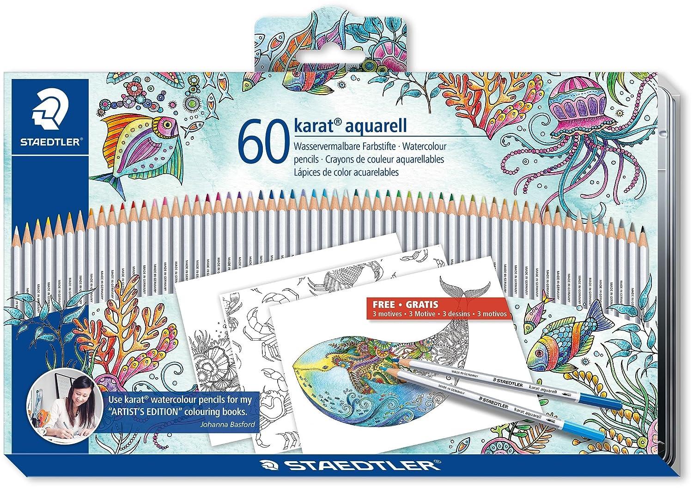 Amazon Staedtler Karat Aquarell 60colors Johanna Basford Version 125 M60JB