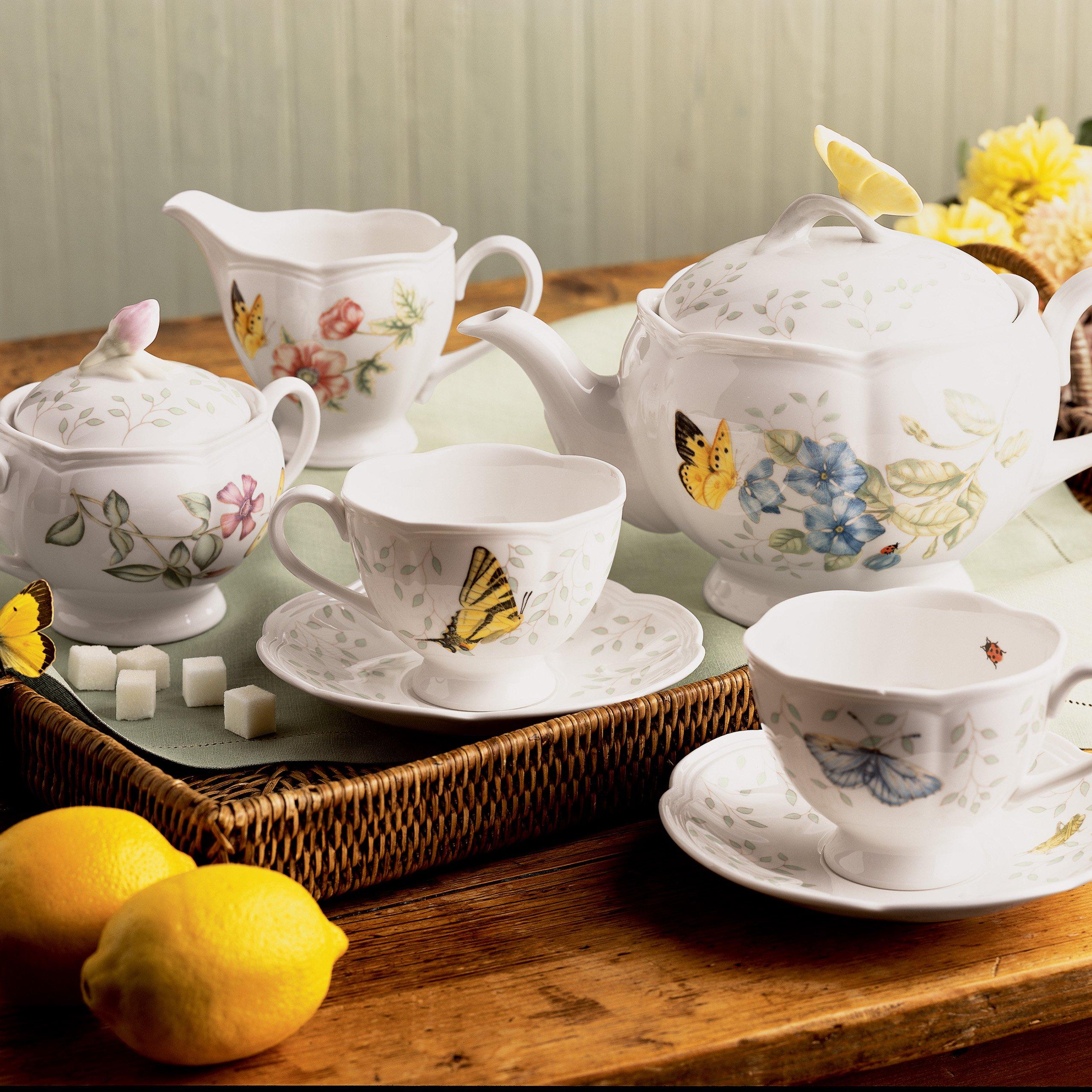 Lenox Butterfly Meadow 8-Piece Tea Set, Service for 2
