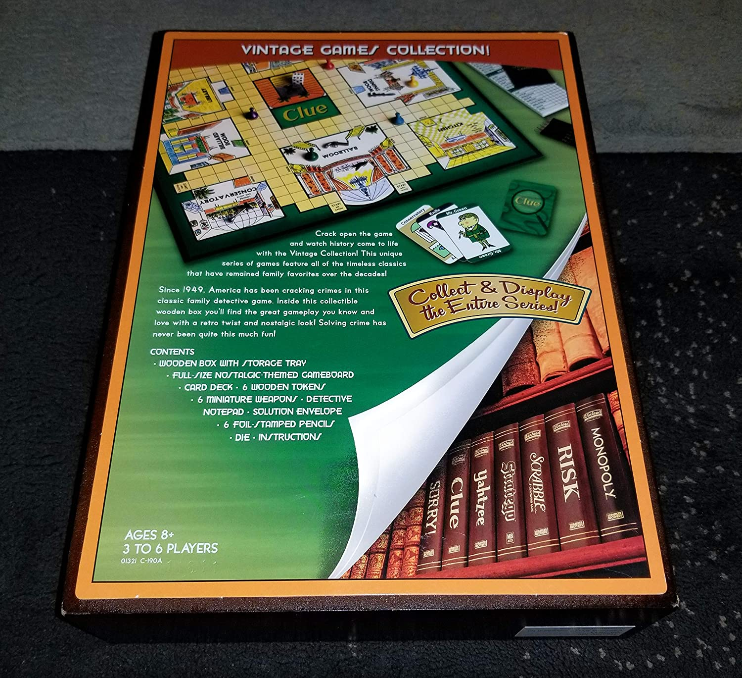 Parker Brothers Vintage Game Collection Wooden Book Box Clue by Hasbro (English Manual): Amazon.es: Juguetes y juegos