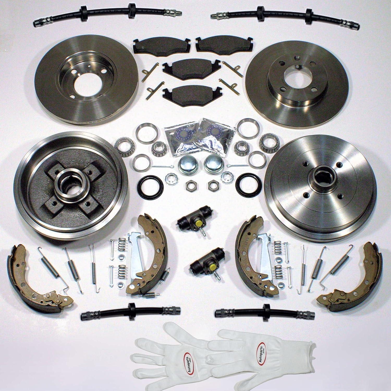 hinten Autoparts-Online Set 60003122 Bremsscheiben Bremsbel/äge vorne Zubeh/ör hinten Radlager Bremsschl/äuche vorne Brremsbacken Bremstrommeln