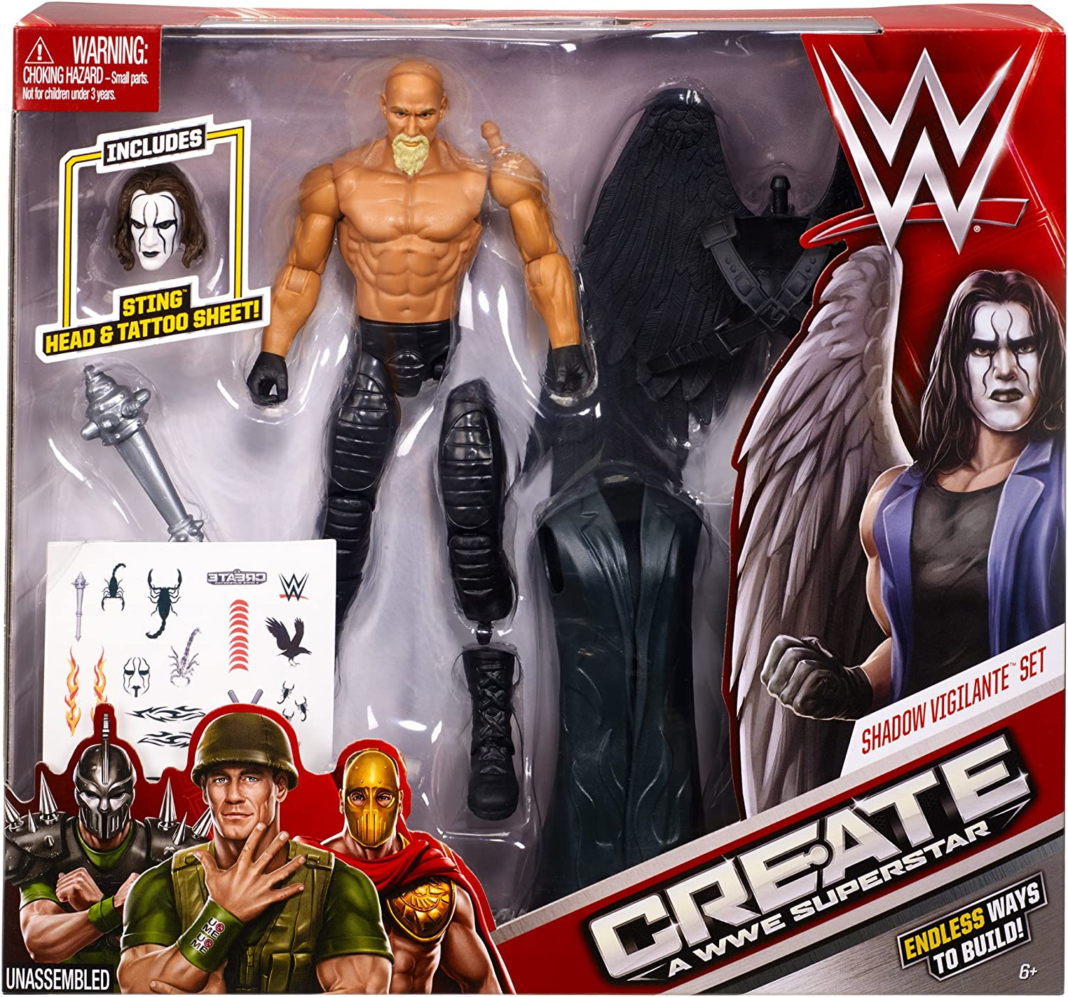 Create a WWE Superstar Sting Pack by Mattel: Amazon.es: Juguetes y juegos