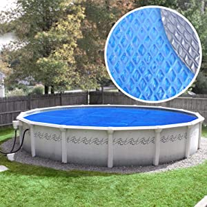 Crystal Blue 24S-8SBD Box-CB Solar Pool Cover, 24 ft. Round