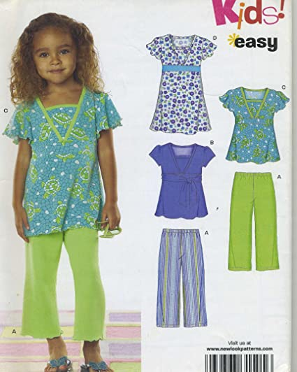78192aaf35bc Image Unavailable. Image not available for. Color  Childs Knit Dress Top  Pants Sewing Pattern Simplicity ...