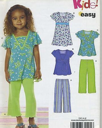 Amazon Childs Knit Dress Top Pants Sewing Pattern Simplicity