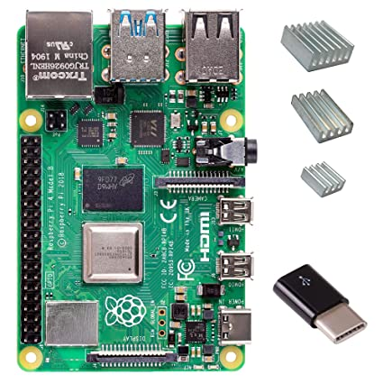 Amazon com: Raspberry Pi 4 with CanaKit Heat Sinks and Micro USB to