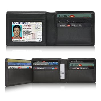 85ec190c91d9 Amazon.com  Leather Wallets for Men