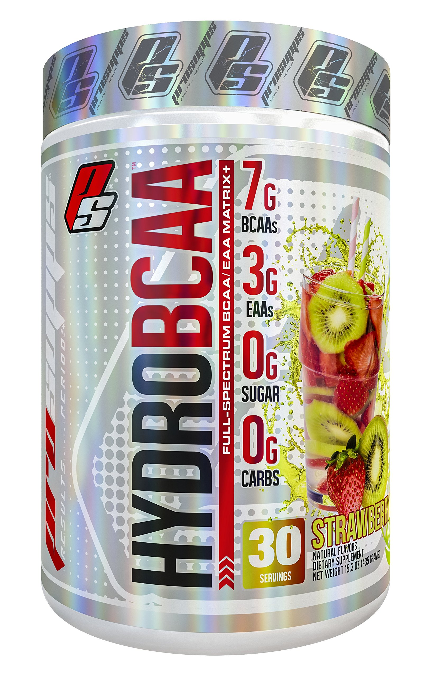 HydroBCAA BCAA/EAA Full Spectrum Matrix, 7g BCAAs, 3g EAAs, 0g Sugar, 0g Ccarbs, 30 servings, 15.3 oz. (Strawberry Kiwi Flavor)