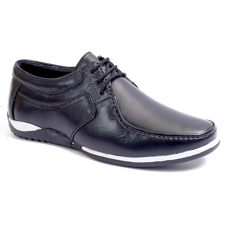 Buy Advick Men's Black Genuine Leather