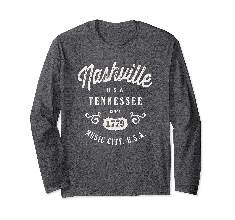 Nashville Music City USA Vintage T-shirt-Samdetee
