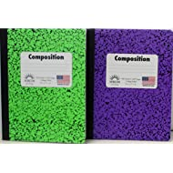 Norcom College Ruled Composition Notebooks ( Pack of 2) (Light Green/Purple)