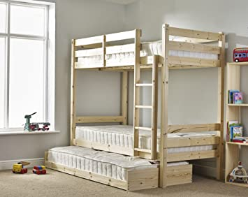 Bunk Bed With Guest Bed 3ft Single Bunkbed With Pull Out Trundle