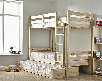 Etagenbett Mit Gästebett : Strictly beds everest heavy duty bunkbed etagenbett mit gästebett