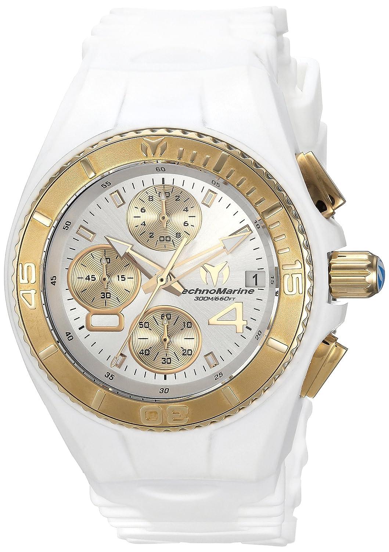 Technomarine Women s Cruise Stainless Steel Quartz Watch with Silicone Strap, White, 24 Model TM-115361
