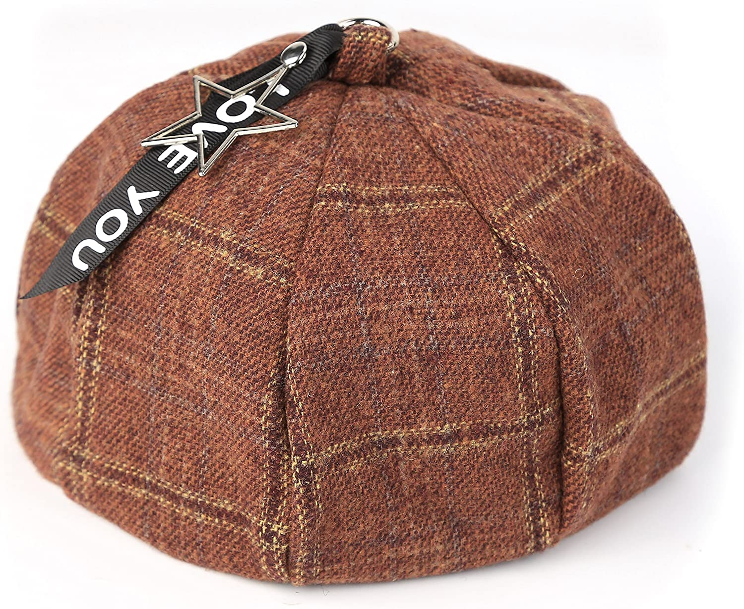Women French Plaid Beret...